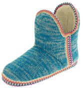 Womens Coolers Knitted Warm Lined Winter Boot Slippers Thumbnail 1