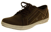 Mens REAL LEATHER YACHTSMAN Casual Trainers