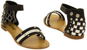 Womens BETSY Gladiator Summer Sandals Thumbnail 3