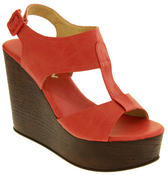 Womens BETSY T-Bar Platform Wedge Sandals Thumbnail 2