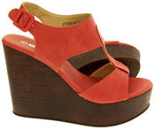 Womens BETSY T-Bar Platform Wedge Sandals Thumbnail 4
