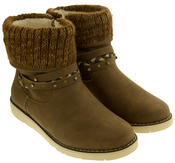 Ladies Keddo Faux Suede Fur Lined Winter Ankle Boots Thumbnail 5
