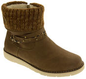 Ladies Keddo Faux Suede Fur Lined Winter Ankle Boots Thumbnail 2
