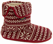 Mens Coolers Fairisle Knitted Warm Lined Boot Slippers Thumbnail 8