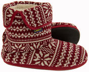 Mens Coolers Fairisle Knitted Warm Lined Boot Slippers Thumbnail 9