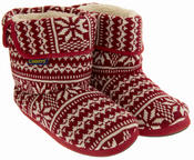 Mens Coolers Fairisle Knitted Warm Lined Boot Slippers Thumbnail 10