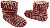 Mens Coolers Fairisle Knitted Warm Lined Boot Slippers Thumbnail 11