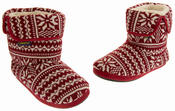 Mens Coolers Fairisle Knitted Warm Lined Boot Slippers Thumbnail 12