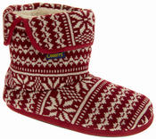 Mens Coolers Fairisle Knitted Warm Lined Boot Slippers Thumbnail 7