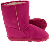 Girls Faux Suede Warm Lined Winter Hugg Boots Thumbnail 3