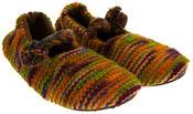 Ladies Kumfipumps Multicolour Knitted Ballerina Slippers Thumbnail 4
