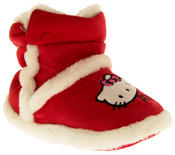 Girls Hello Kitty Faux Fur Lined Boot Slippers Thumbnail 7