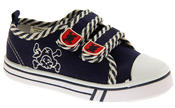 Boys De Fonseca Timotto2 Twin Velcro Strap Canvas Shoes Thumbnail 2