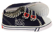 Boys De Fonseca Timotto2 Twin Velcro Strap Canvas Shoes Thumbnail 4