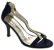 Ladies Divine Satin Diamante High Heel Bridesmaid Shoes Thumbnail 12