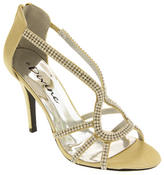Ladies Divine Satin and Diamante Strappy Wedding Heels Thumbnail 2