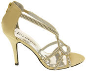 Ladies Divine Satin and Diamante Strappy Wedding Heels Thumbnail 3