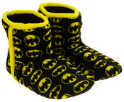 Mens Batman Fleece Warm Pull On Boot Slippers Thumbnail 5