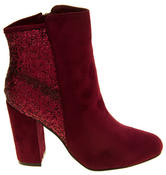 Ladies Divine Faux Suede Glitter Ankle Boots Thumbnail 5