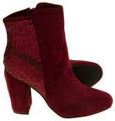 Ladies Divine Faux Suede Glitter Ankle Boots Thumbnail 6