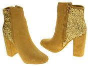 Ladies Divine Faux Suede Glitter Ankle Boots Thumbnail 12
