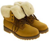 Womens KEDDO Hi Top Warm Wool Lined Ankle Boots Thumbnail 11