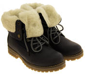 Womens KEDDO Hi Top Warm Wool Lined Ankle Boots Thumbnail 4