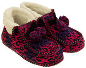 Ladies Coolers Winter Fur Lined Fairisle Slipper Boots Thumbnail 10