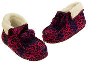 Ladies Coolers Winter Fur Lined Fairisle Slipper Boots Thumbnail 12