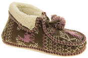 Ladies Coolers Winter Fur Lined Fairisle Slipper Boots Thumbnail 2