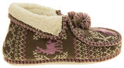 Ladies Coolers Winter Fur Lined Fairisle Slipper Boots Thumbnail 3