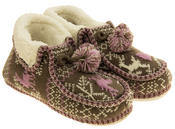 Ladies Coolers Winter Fur Lined Fairisle Slipper Boots Thumbnail 5