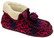 Ladies Coolers Winter Fur Lined Fairisle Slipper Boots Thumbnail 7