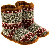 Mens Coolers Fairisle Faux Fur Lined Snowflake Boot Slippers Thumbnail 11