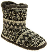 Mens Coolers Fairisle Faux Fur Lined Snowflake Boot Slippers Thumbnail 2