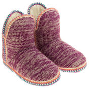 Womens Coolers Knitted Warm Lined Winter Boot Slippers Thumbnail 10