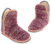 Womens Coolers Knitted Warm Lined Winter Boot Slippers Thumbnail 12