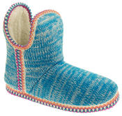 Womens Coolers Knitted Warm Lined Winter Boot Slippers Thumbnail 2