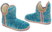 Womens Coolers Knitted Warm Lined Winter Boot Slippers Thumbnail 6