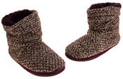 Ladies Coolers Warm Knitted Winter Fur Lined  Slipper Boots Thumbnail 12