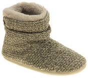Ladies Coolers Warm Knitted Winter Fur Lined  Slipper Boots Thumbnail 2