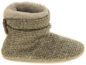 Ladies Coolers Warm Knitted Winter Fur Lined  Slipper Boots Thumbnail 3