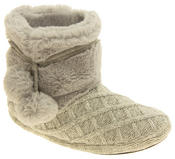 Ladies 'Coolers'  Warm Fur Lined Knitted Slipper Boots Thumbnail 2