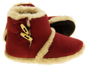 Womens Coolers Warm Winter Faux  Fur Lined Toggle Slipper Boots Thumbnail 12