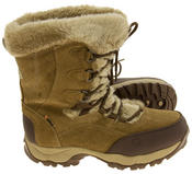 Ladies Hi-Tec Waterproof Suede Faux Fur Winter Snow Boots Thumbnail 9