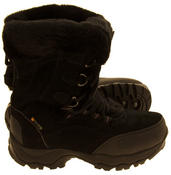 Ladies Hi-Tec Waterproof Suede Faux Fur Winter Snow Boots Thumbnail 4