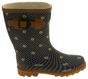 Womens Floral Calf Length Rubber Festival Wellington Boots Thumbnail 6