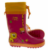 Kids De Fonseca Jungle Fun Wellington Boots Thumbnail 4