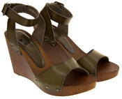 Ladies Platform Wedge High Heel Sandals Thumbnail 4