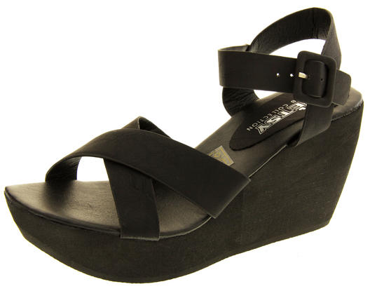 Ladies Wedge Platform Strappy Sandals